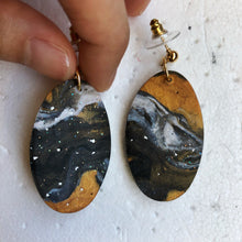 Load image into Gallery viewer, Oval Speckled Marble Superhero Dangles