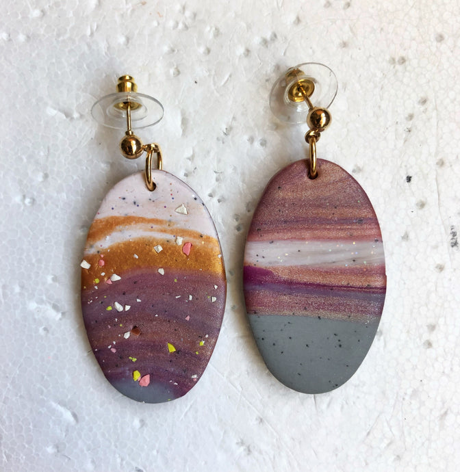 Oval Marble Superhero Complementary Dangles