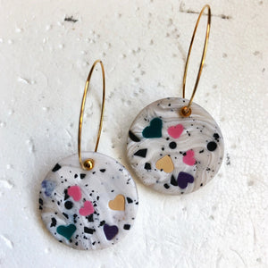 Standard Disc Single Dangles (Pepper Me Hearts)