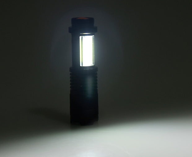 Rechargeable LED Zoom Flashlight - Multiple Lighting Modes!