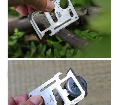Stainless Steel Multi-function Survival Tool - Small & Compact