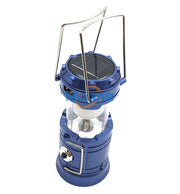 Portable Rechargeable Solar Lantern/Flashlight (Blue)