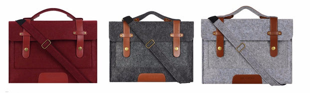 Luxury Messenger Felt Laptop Bag - The Modern Travelers Store