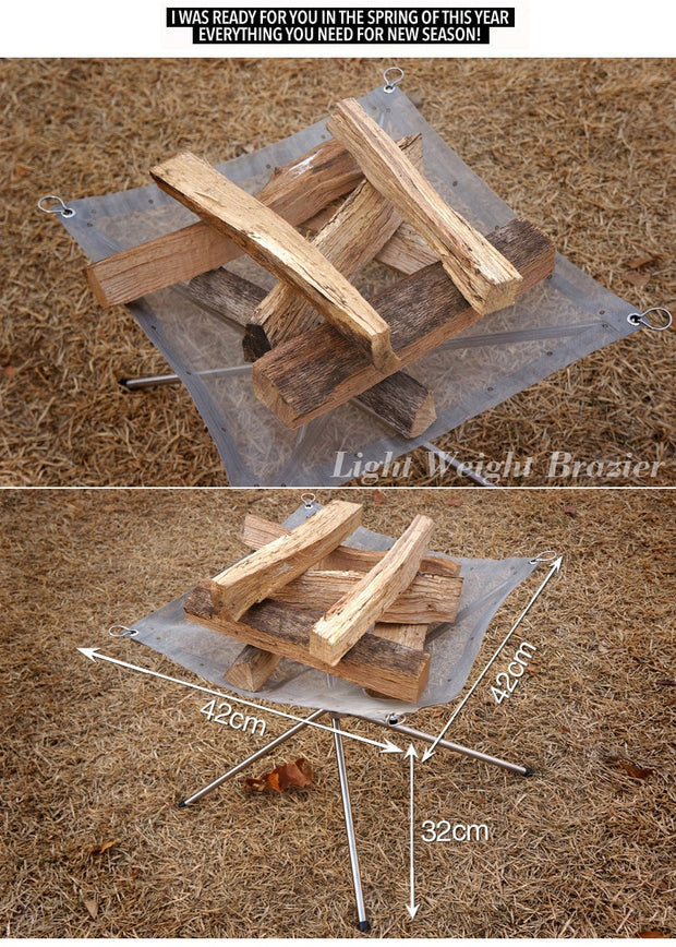 Portable Burn Pit- Perfect For Camping & Backyard - The Modern Travelers Store