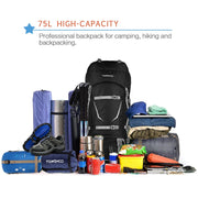 70+5L Hiking Pack w/ Rain Cover
