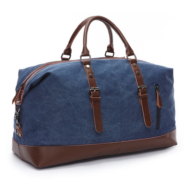 Luxury Travel Duffle- Canvas/Leather - The Modern Travelers Store