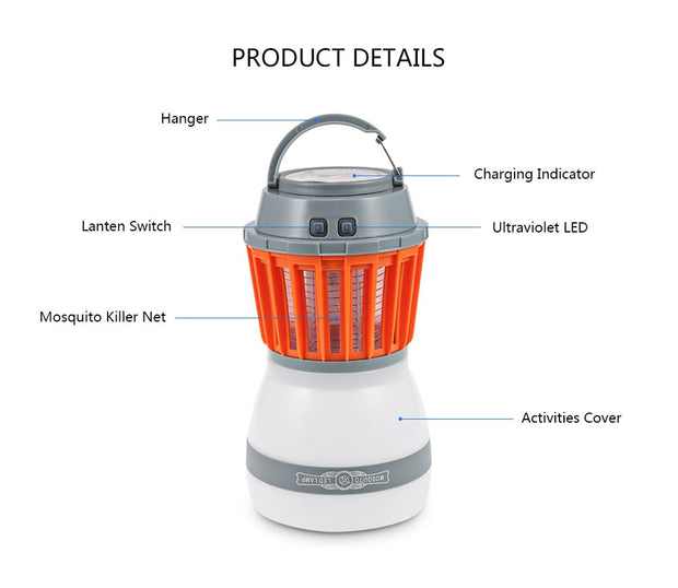 Solar Powered 2-in-1 LED Lantern & Mosquito Killer