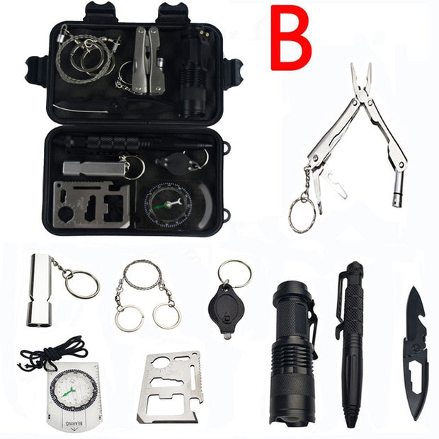 10pcs Tactical Survival Kit