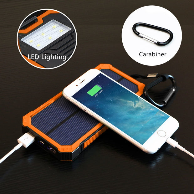 Rugged 15000mAh Solar Power Bank w/ Free Gift!