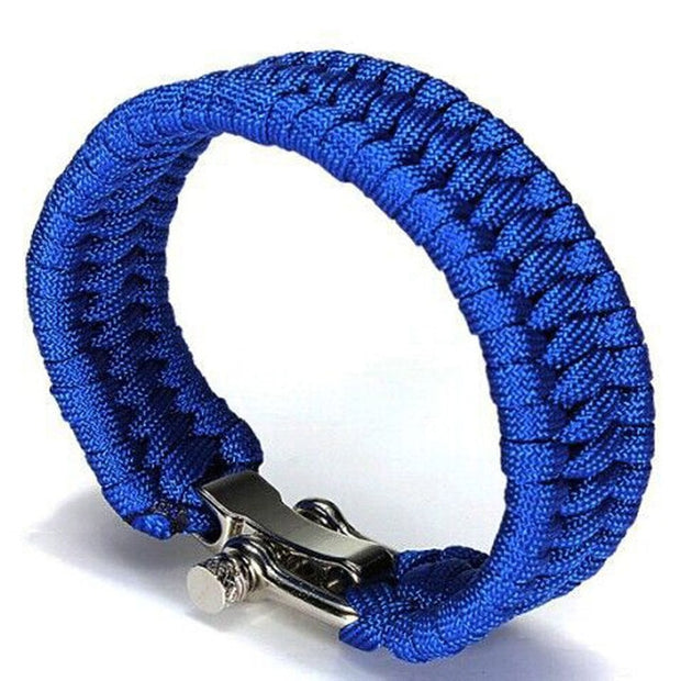 Steel Shackle Survival Bracelet