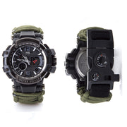 Survival Muti-Function Waterproof Watch