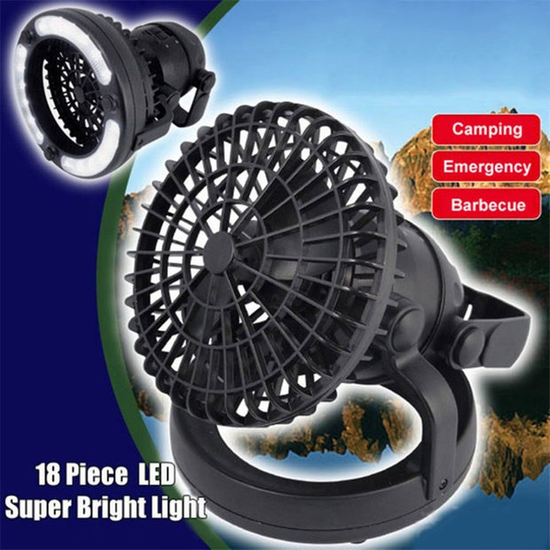 Camping Fan w/ Built In Light