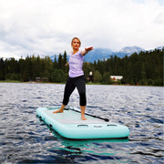 "Inflatable 9'9""  yoga stand up paddle board"
