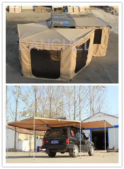 Fan-Shaped Vehicle Awning