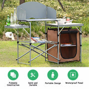 The Ultimate Camp Kitchen w/ Wind Blockers