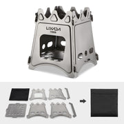 Foldable Titanium Wood Camping Stove - Durable, Lightweight & Corrosion-Resistant