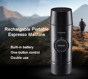 Portable Electric Mini Espresso Coffee Maker-Built In Battery