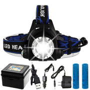 Powerful 10,000 Lumen Head Lamp w/ Adjustable Beam