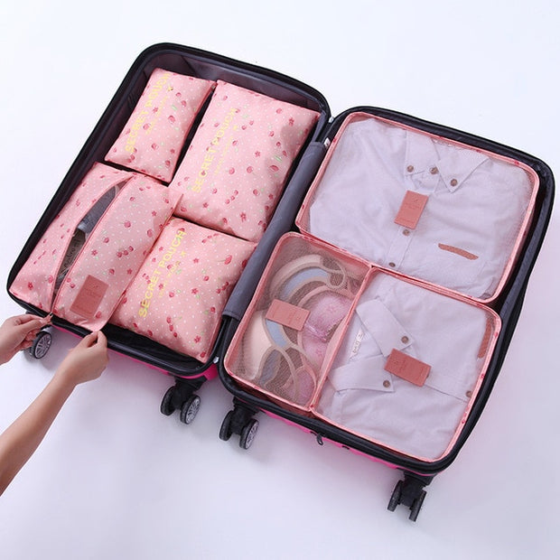 7-Piece Travel Organizer Set- Multiple Colors Available - The Modern Travelers Store