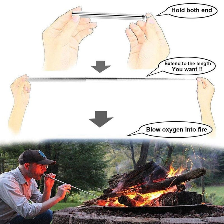Pocket Bellow Collapsible for fire starting - The Modern Travelers Store