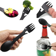 Multifunctional Camping Spork - Can Opener, Knife, Fork, Spoon & More