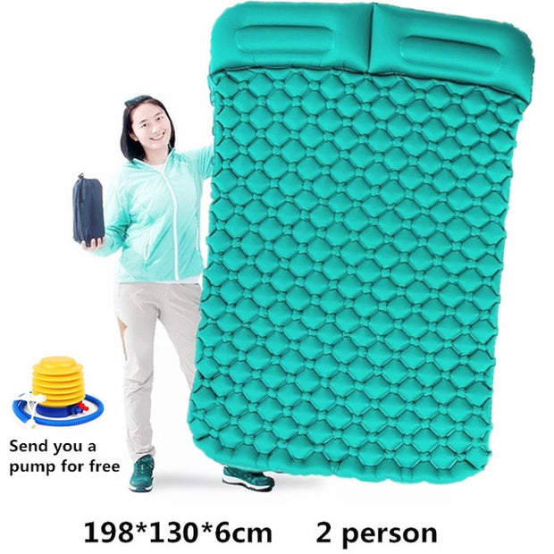 2-Person Inflatable Camping Mat