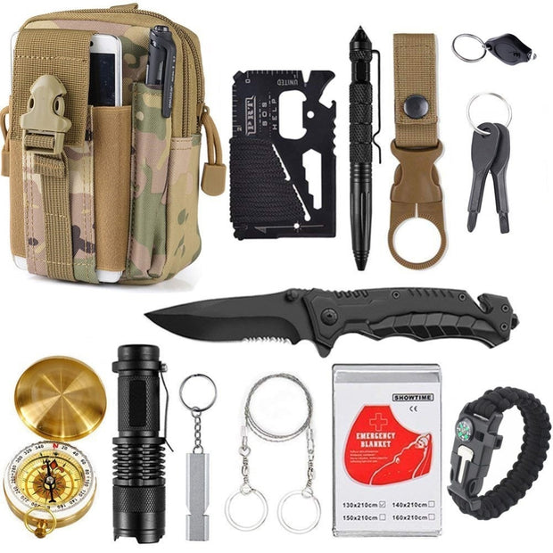 The Elite: 13 in 1 Survival Kit