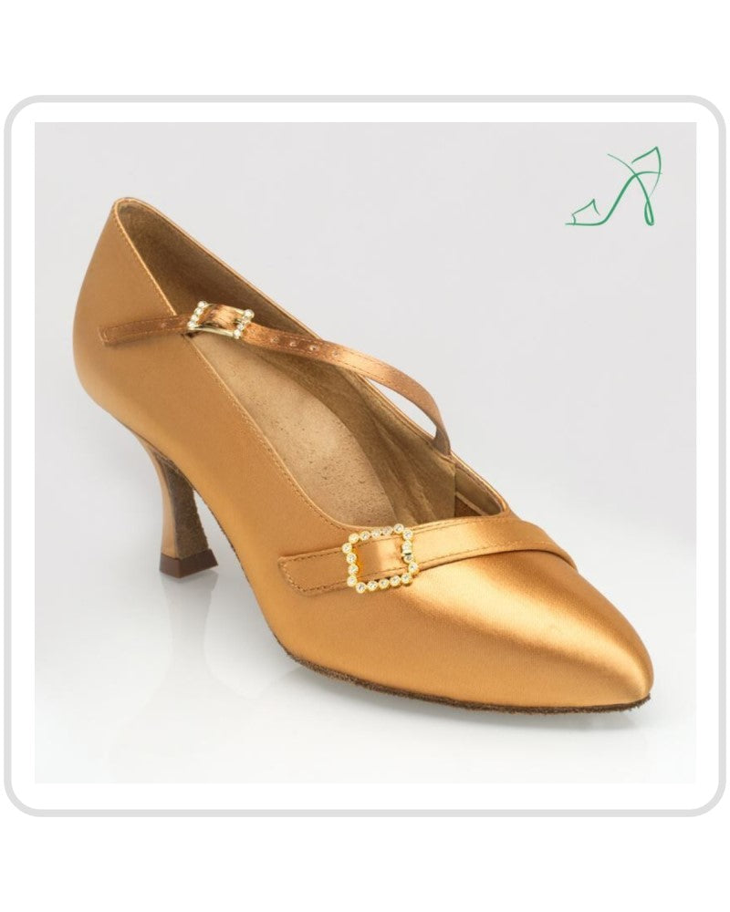 44ef410456d9 Ray Rose. Art Sport. Ladies Ballroom Dance Shoes-129 Savannah Flesh Satin