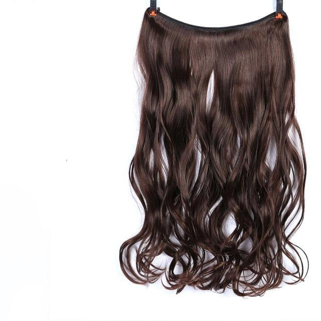 22 56cm Long Wavy Invisible String Flip On No Clip In Hair