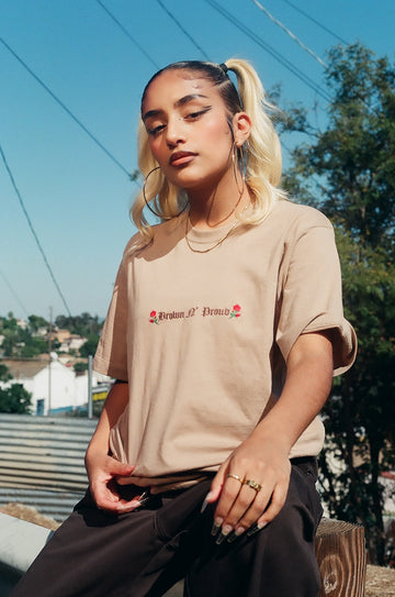 Brown 'N Proud Embroidered Tee