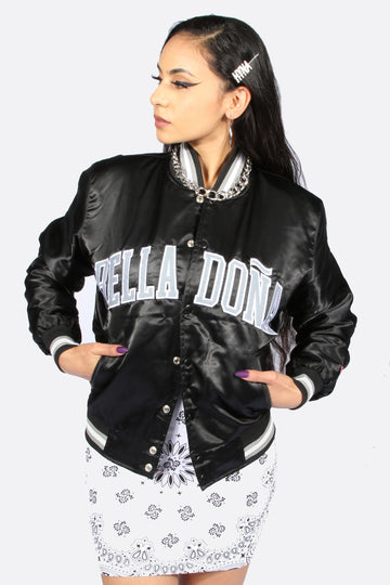 Bella Doña Black Team Varsity Jacket