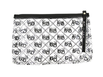 BD Clear Monogram Clutch