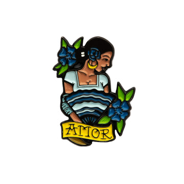 Amor Blue Girl Enamel Pin