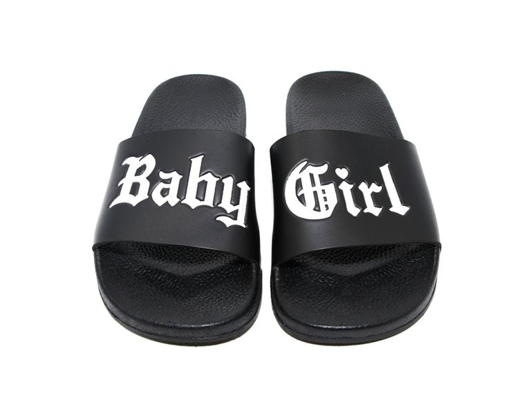 Baby Girl Black Slides
