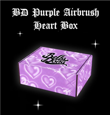 BD Purple Airbrush Heart Box