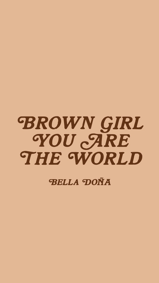 Brown Girl Poster