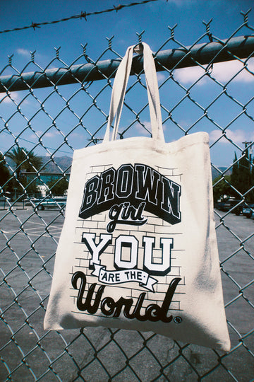 Brown Girl Tote Bag