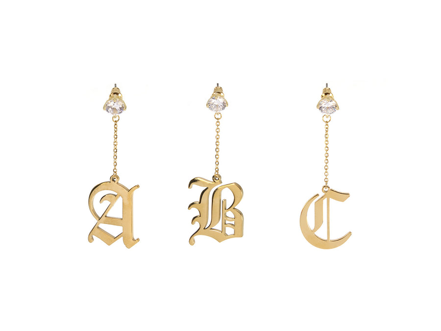 Initial Drop Earrings