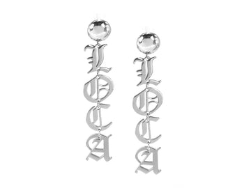 Palabra Earrings: Loca - Silver