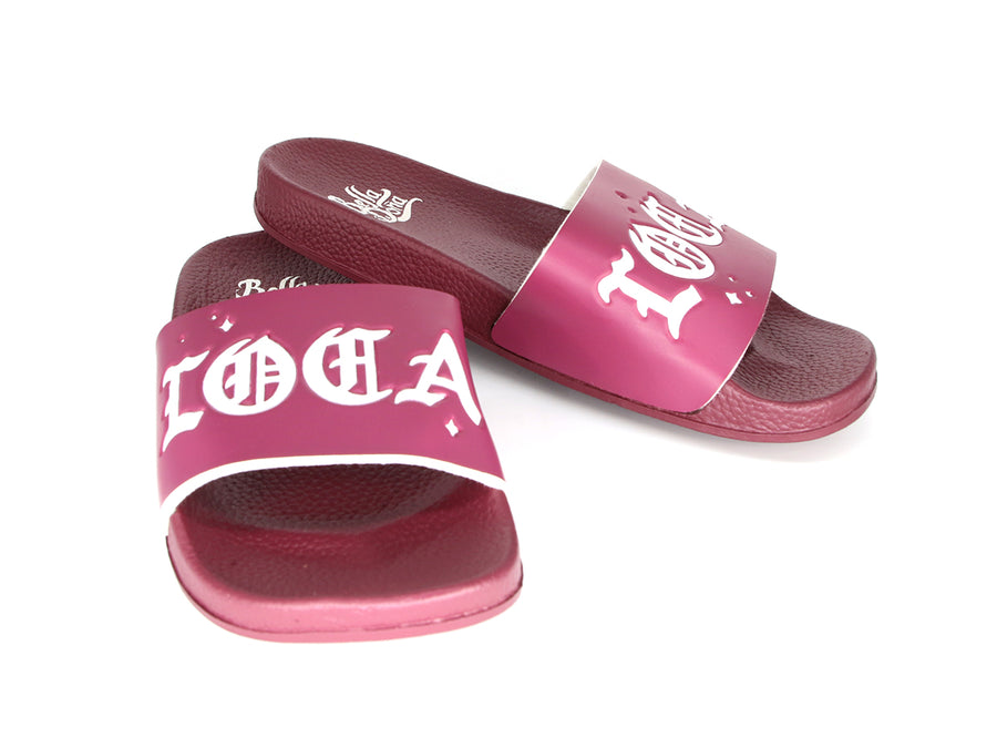 Loca Slides- Burgundy