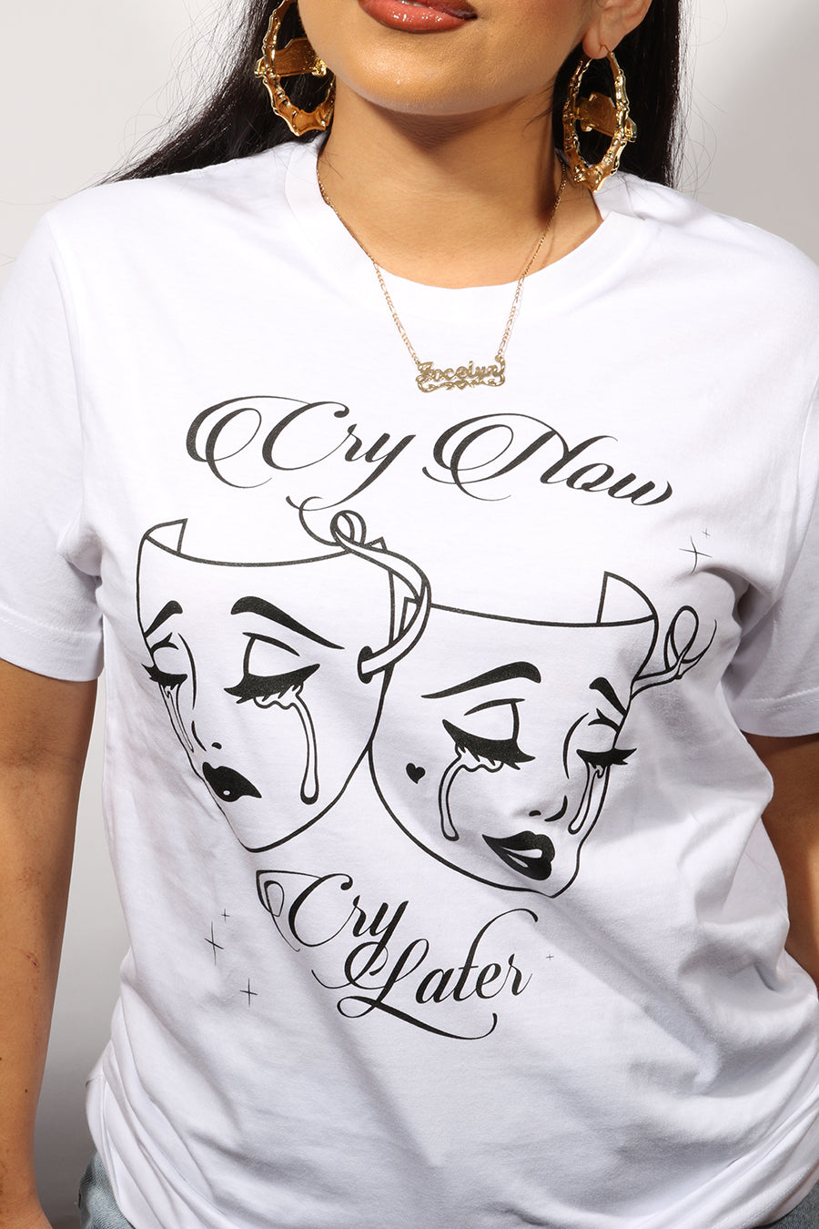 Cry Now Tee - White