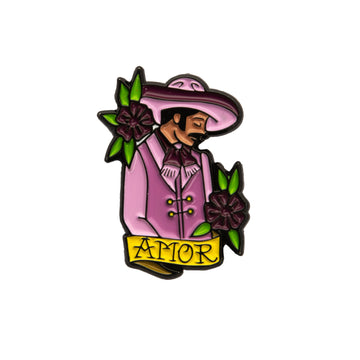 Amor Purple Enamel Pin