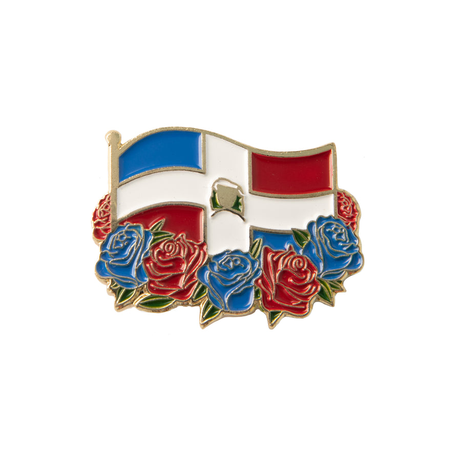 Dominican Republic Flag Enamel Pin