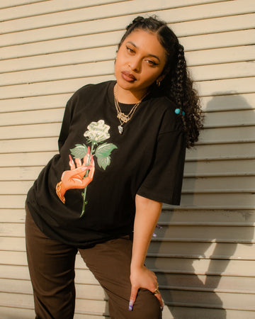 Money Rose Tee Unisex - Black