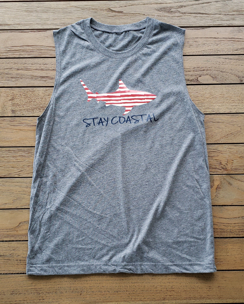 Men's American Shark Muscle Tank