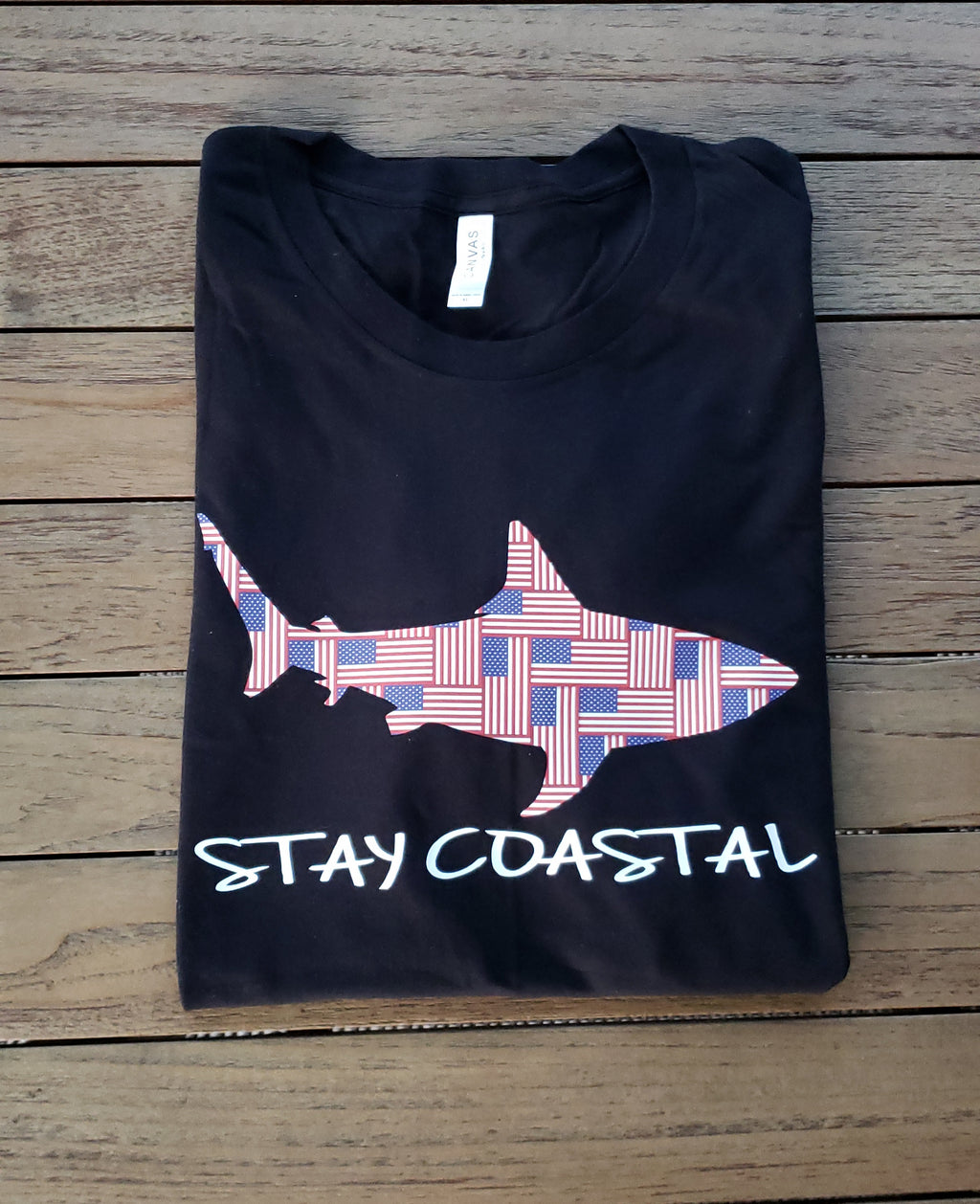 Men's Flagged Shark Tee