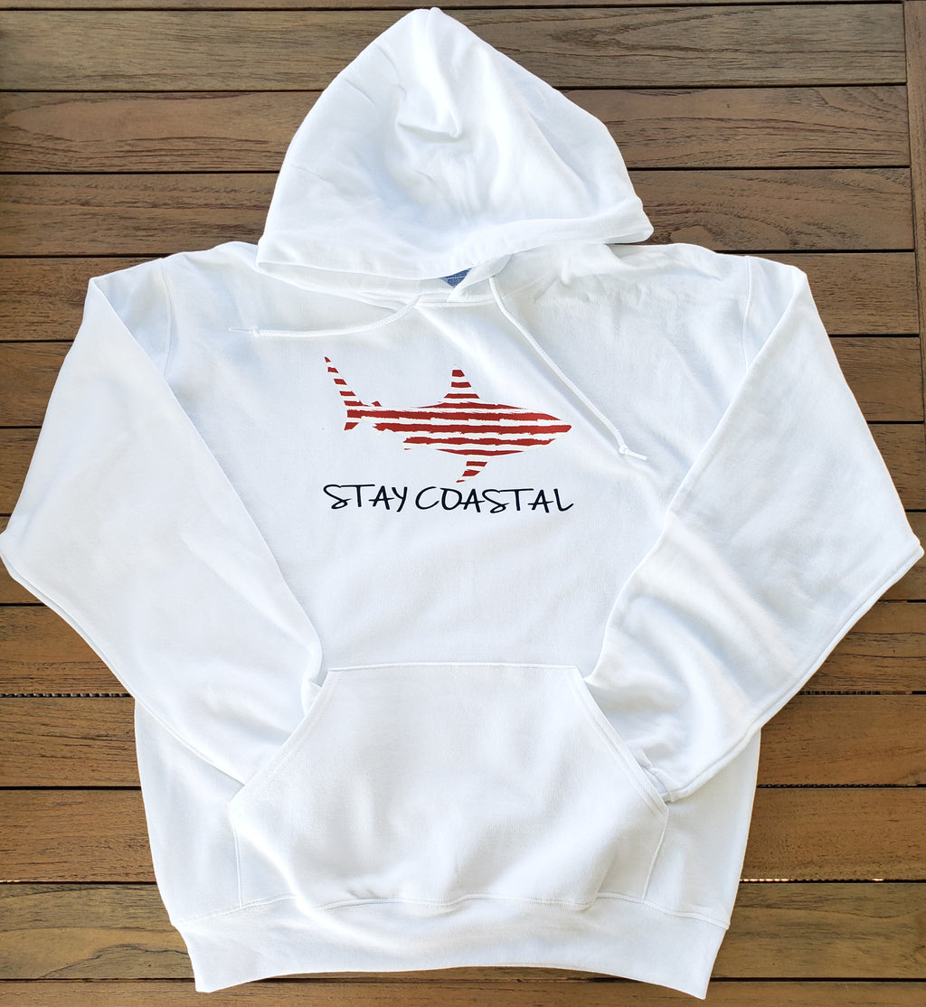 Women's Striped Shark Hoodie