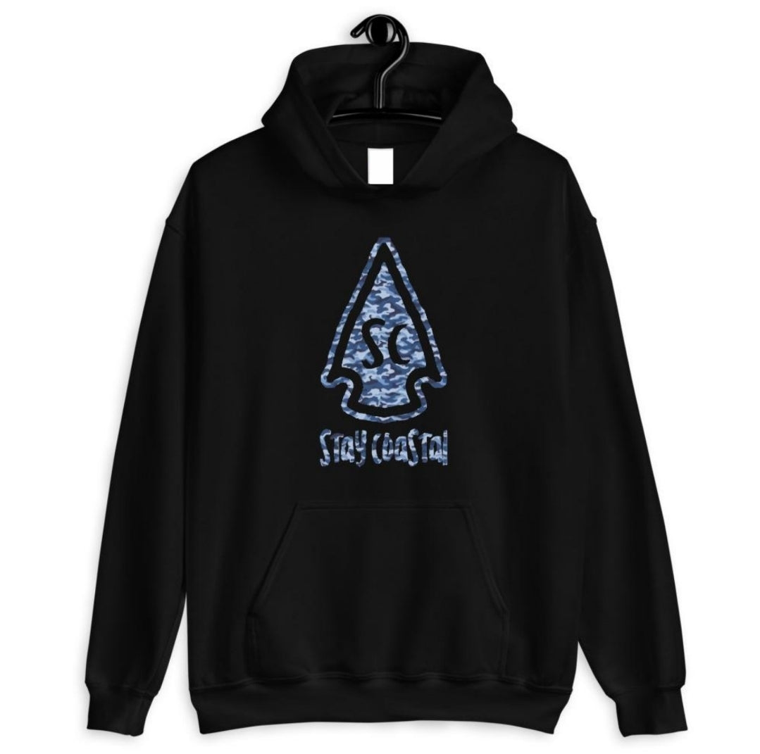 Men's Camo Arrowhead Hoodie - Stay Coastal