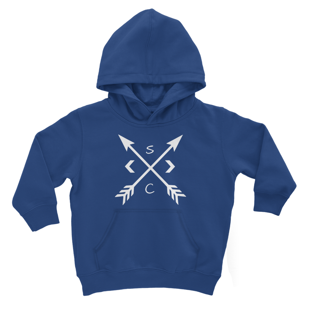 Youth White Compass Hoodie