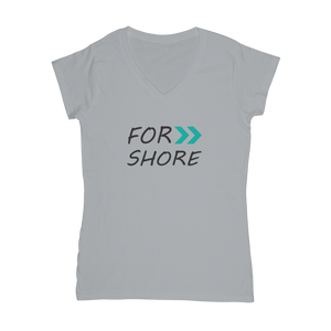 Women's Teal For Shore V-Neck Tee
